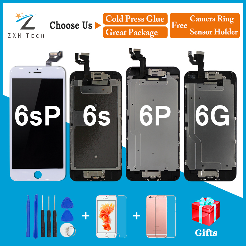 Replacement For IPhone 6 6S Plus LCD Display Completed Assembly LCD Digitizer Touch Screen With Camera + Home Button + Gifts