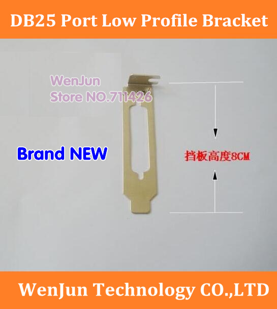 Parallel LPT Printer db25 Port Cable Rear PCI bracket Full-height w//screw