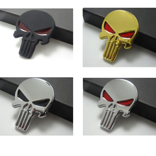 CDCOTN Car Stickers Metal Skull Head Car Body sticker Side Standard Automobile And Motorcycle Decoration Accessories Styling motorcycle sticker car styling shark car stickers cool letter automobile modeling car decoration