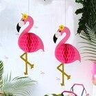 Pink Flamingo Honeyc...