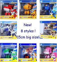 Big!!  15 cm Super Wings Transformation Deformation Airplane Robot Action Figures, child Toys Gift superwings