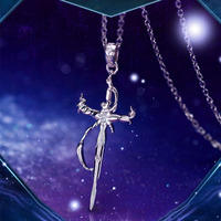 Anime K Project Cross Necklace Isana Yashiro Costume Accessory Women 925 Silver Jewelry Gifts For Men Sweater Necklace Pendant