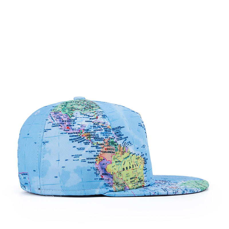 0d197ddc938 1 2016 New Funny Newspaper Globe 3D Print Snap Back Baseball Caps Flat  Along Hat Hip Hop Cap Gorras Planas Casquette Men Womens-in Baseball Caps  from ...