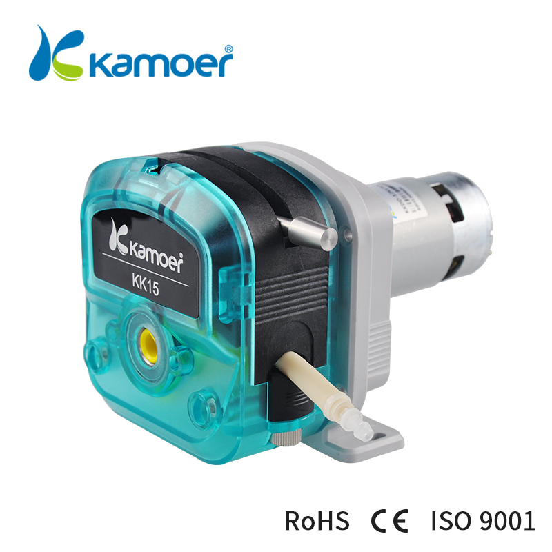 цена на Kamoer kkdd 12v 24v dc motor water peristaltic pump with pump tube (silicone tube,BPT tube)