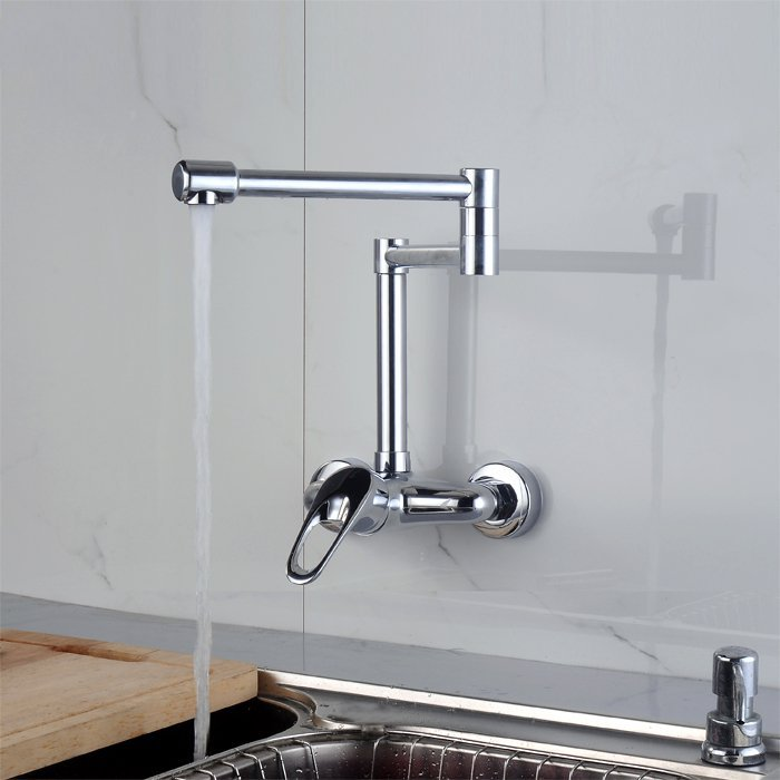 Hot And Cold Kitchen Faucet Can Be Rotated Wall Copper Mounted Sink Mixer Water Tap In Faucets From Home