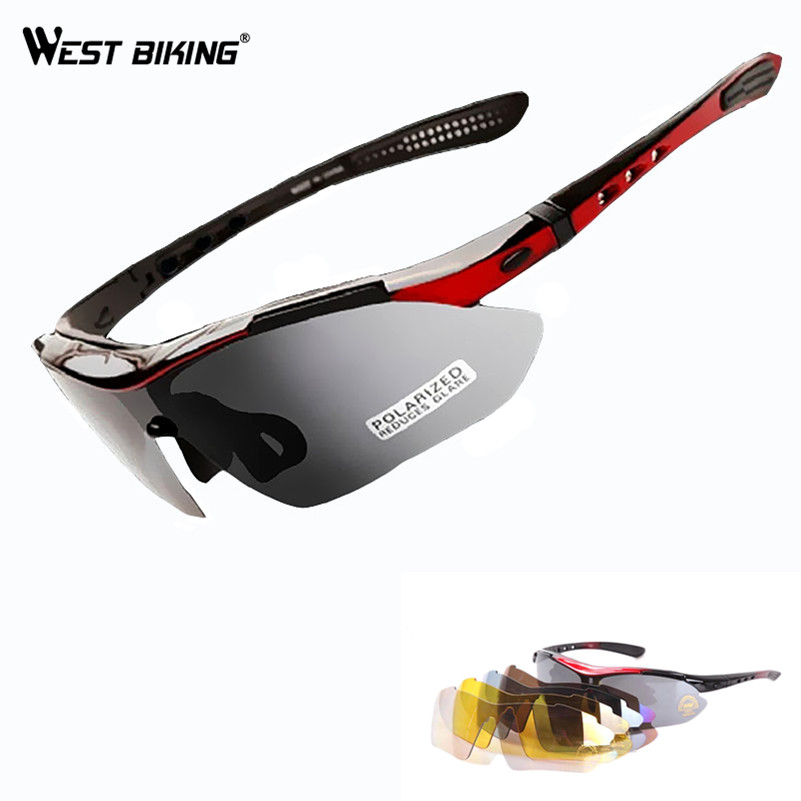 WEST BIKING Cycling Glasses Five Lenses Sunglasses Men Women Sport Polarized Racing Bike Bicycle Cycling Eyewear Cycling Glasses west biking bicycle riding glasses polarized glasses mountain bike outdoor sports equipment prescription windproof glasses