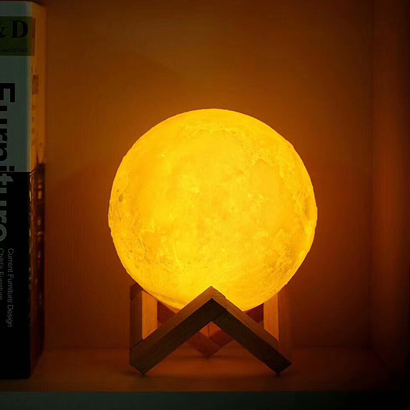 Light Moon lamp USB holiday sleeping atmosphere decorative table lamp baby Touch Bedside kids light creative gift home charge