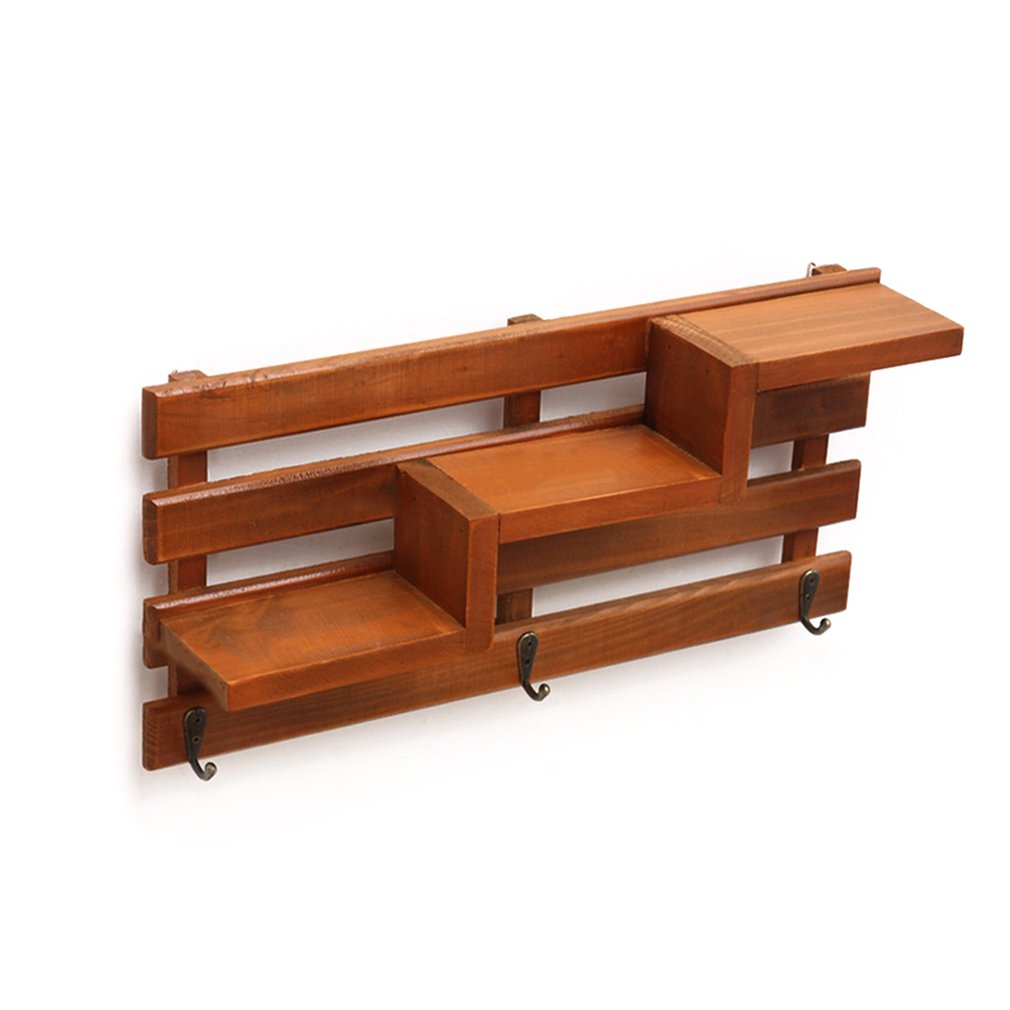 wooden corner wall shelf wood bathroom shelves storage box Handmade ...