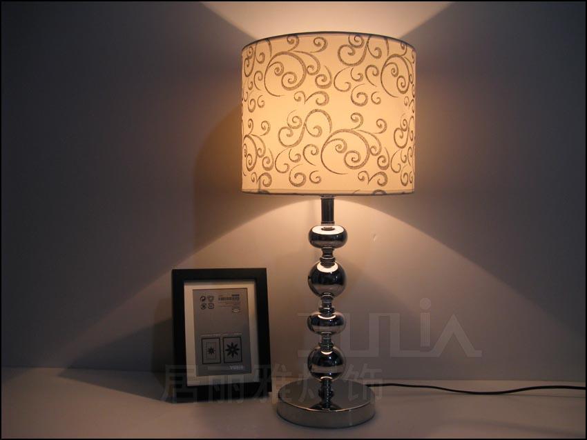 Европейский стиль простой спальня прикроватный настольная лампа яркий серебро Гостиная И ...