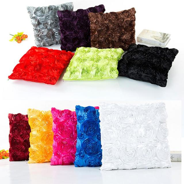 43X43 cm Rosa Floreale Cuscino Divano Vita Poliestere Pillow Case Home Decor Cus