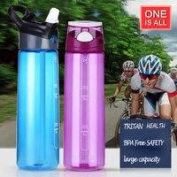 700 ml Garrafa de Água de Plástico Com Palha Para As Crianças da Minha Garrafa Copo De Vidro Portátil de Viagem Esporte garrafas De Plástico BPA Livre