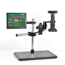 """Cheapest prices 1080P HDMI USB HD Digital Microscope Camera Industrial Calibrate Camera+180X C-mount Lens+8"""" LCD Monitor for Industry PCB Lab"""
