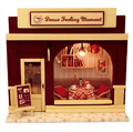 Doll House Miniature Model Building Kits 3D Handmade Wooden Dollhouse Birstday Gift European Stores-Dense Feeling Moment