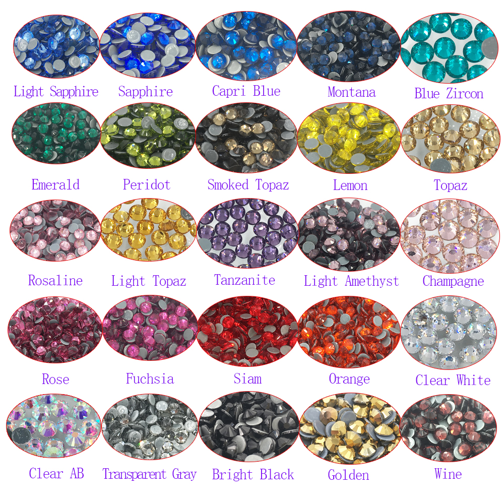 High Quality HotFix Rhinestones FlatBack Glass Crystal Rhinestones Thermal Adhesive Iron On Stones For Clothes Bag Shoes ss4 1 5 1 6mm lt siam red 1440pcs bag non hotfix flatback rhinestones glass glitter glue on loose diy nail art crystals stones