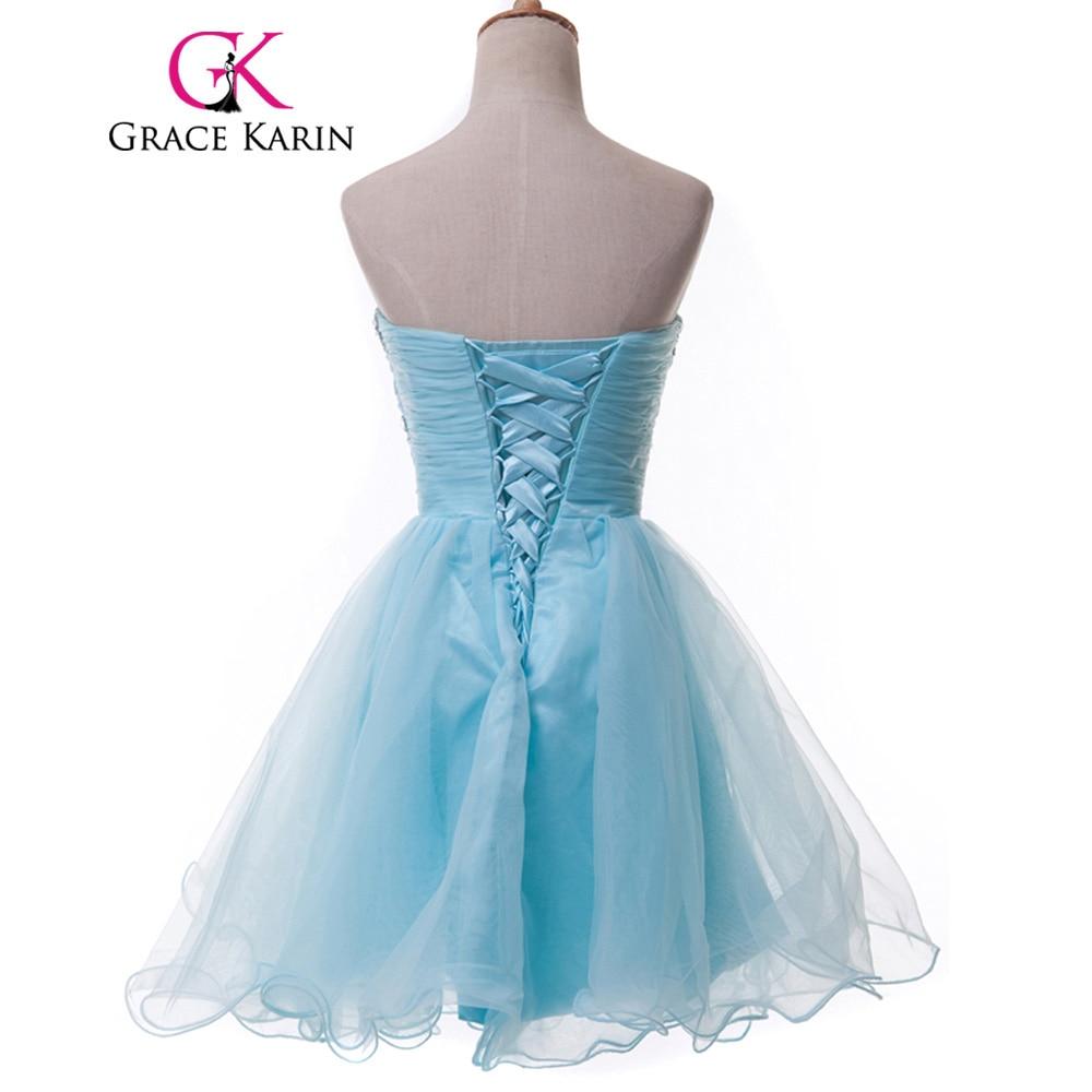 Grace Karin Sweetheart Short Prom Dresses Pink Blue Black White ...