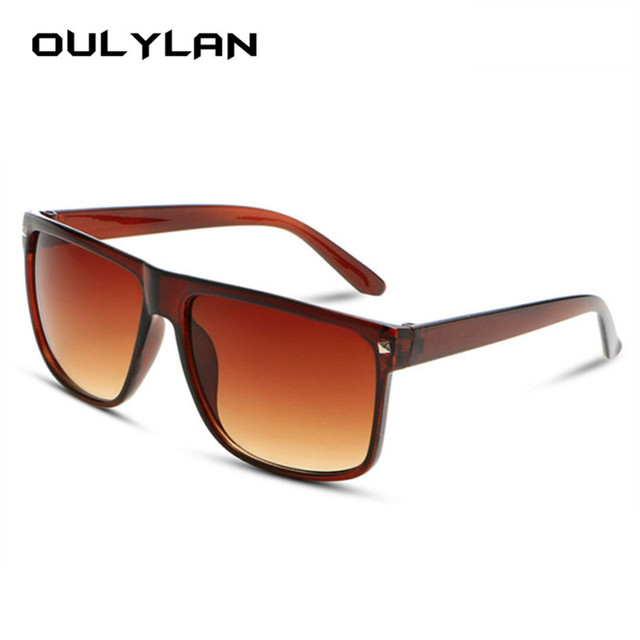 bdb495bf4ad Oulylan Vintage Oversized Sunglasses for Women Fashion Designer Big Frame Sun  Glasses Female Retro Sunglass Shades