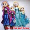 50 cm de pelúcia boneca princesa Elsa Anna Plush Doll Brinquedos Snow Queen Stuffed boneca Brinquedos crianças bonecas para meninas de alta qualidade