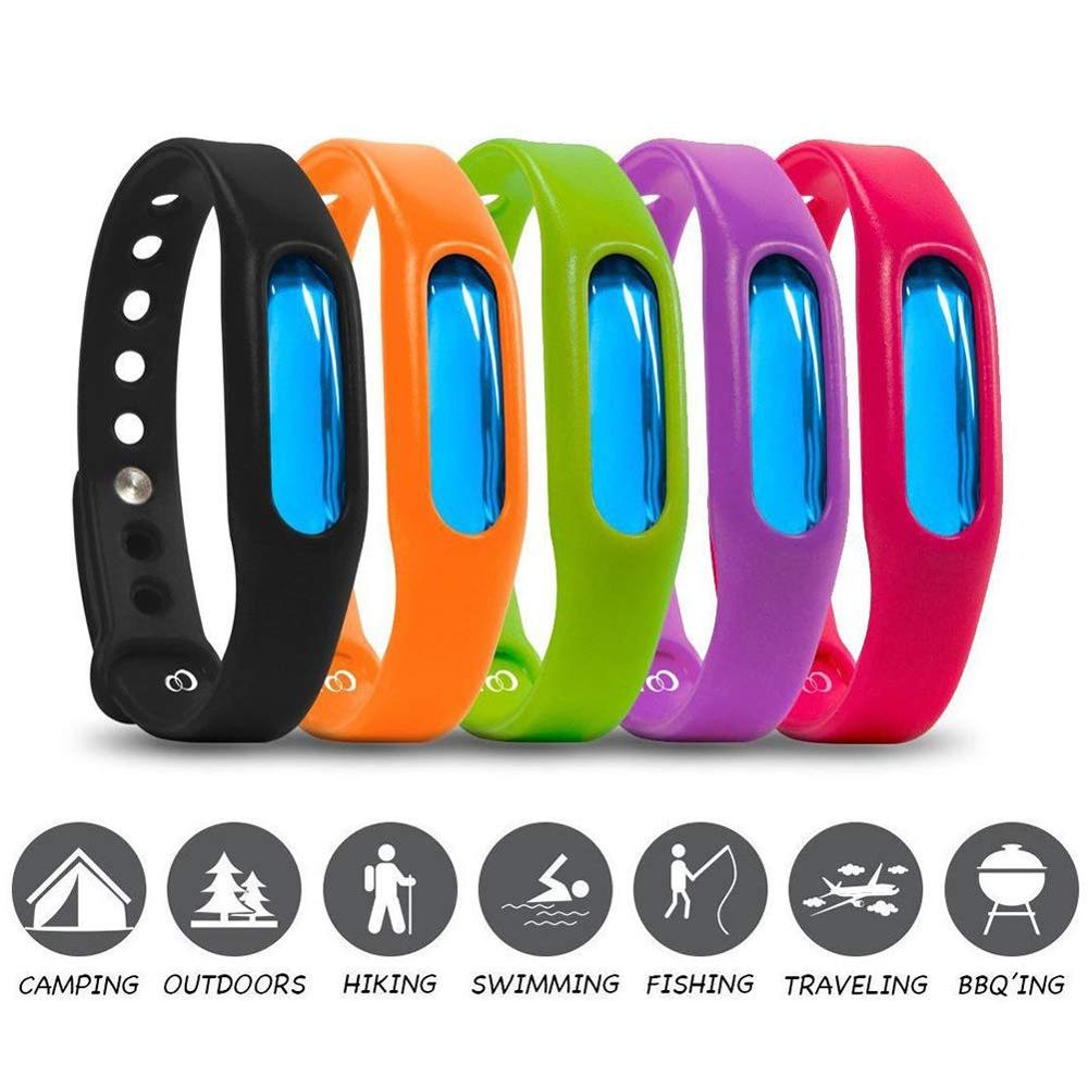 Image 2 - Color Mosquito Repellent Bracelet Summer Environmental Protection Silicone Capsule Bracelet Child Safety Belt Mosquito Killer-in Repellents from Home & Garden