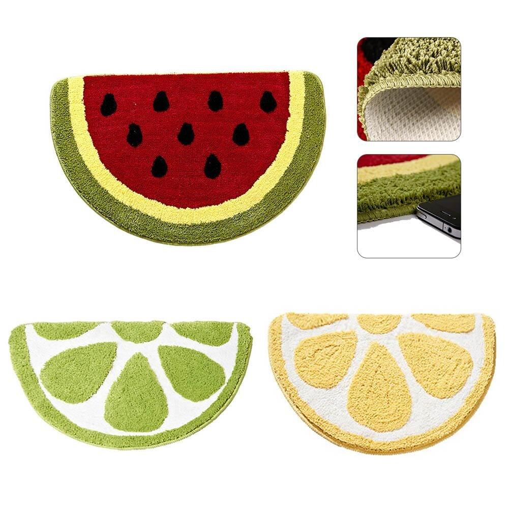 Creative Cartoon Watermelon Lemon Mats Anti-slip Bathroom Outdoor Mats Sitting Room The Bedroom Doormats