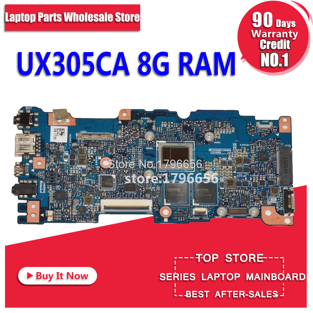 UX305CA Motherboard 8G RAM M3-6Y30 For ASUS UX305CA UX305C UX305 U305C laptop Motherboard UX305CA Mainboard UX305CA main board for asus ux305 ux305ca ux305la ux305fa 13 3 inch touch panel with digitizer