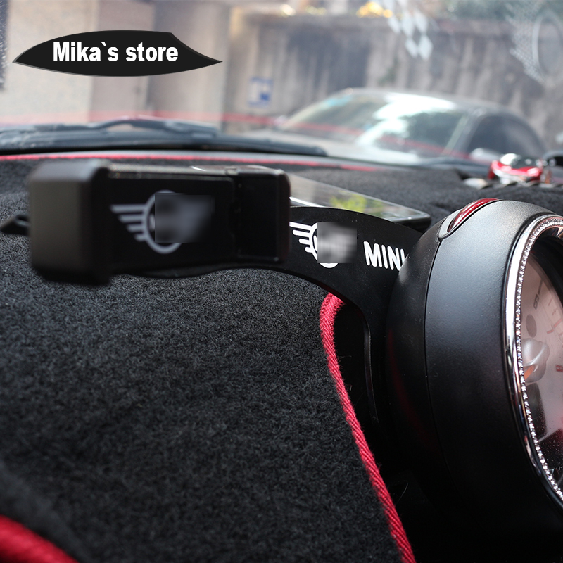 Image 3 - car auto metal mobile phone holder for mini cooper R55 R56 R60 R61 car styling clubman countryman cell phone holder accessories-in Car Stickers from Automobiles & Motorcycles