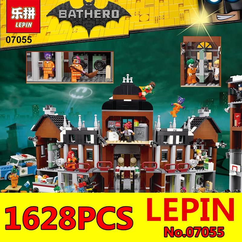 CX Compatible Legoe batman 70912 Lepin 07055 1628pcs super heroes movie blocks Arkham Asylum toys for children building blocks batman super heroes mini avenger figures villains joker beetle black manta movie building block toy compatible with legoe pg080
