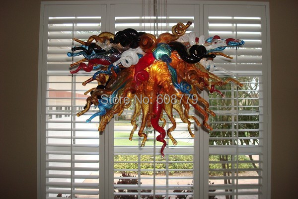 Free Shipping Modern Foyer Cheap Crystal Art Glass Home Chandeliers in Chandeliers from Lights Lighting