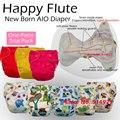 Feliz flauta NB, pañales para bebés, NB Pañales, AIO pañal con una costura de inserción en el interior. ajuste bebé 0-3 meses o 6-12 libras