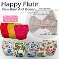 Happy flute NB diaper,baby nappy, NB Diaper, AIO diaper with a sewn inside insert. Fit baby 0-3 months or 6-12 lbs