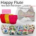 NB счастлив флейта пеленки, детское подгузник, NB Подгузники, AIO пеленки с сшиты внутри вставки. подходит ребенок 0-3 месяцев или 6-12 фунтов