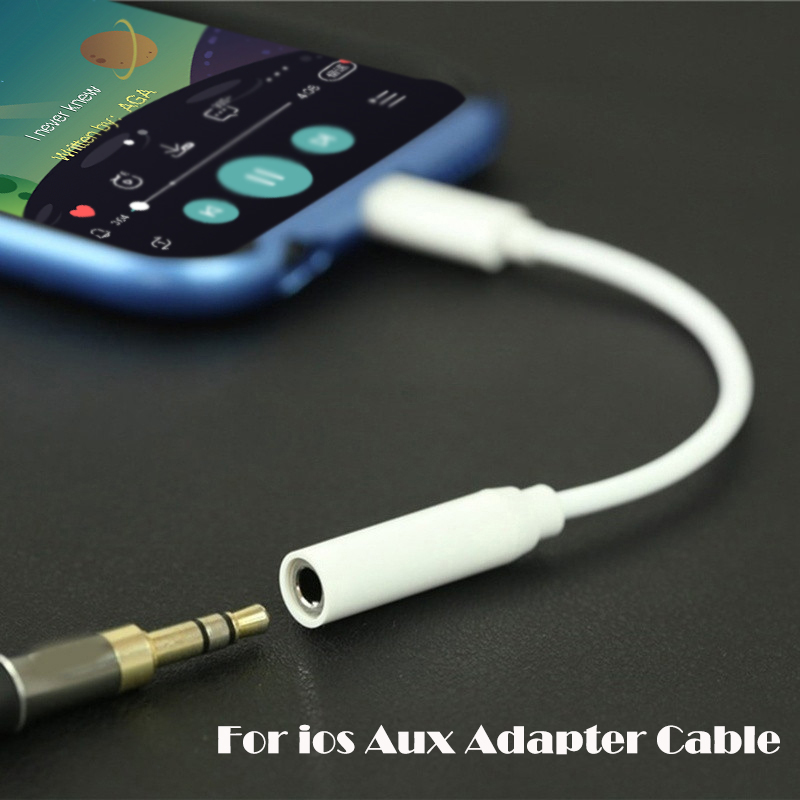 Tangle-Free lot Short/&Long 3.5mm Male Aux Cable Cord Car Audio Headphone Jack