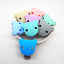 Chenkai 10PCS Silicone Mickey Mouse Teether Clip DIY Round Bear Star Baby Pacifier Dummy Chain Holder Soother Nursing Toy Clips