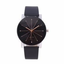 Fashion Casual Women Leather Band Quartz Analog Wrist Watches for Lover B
