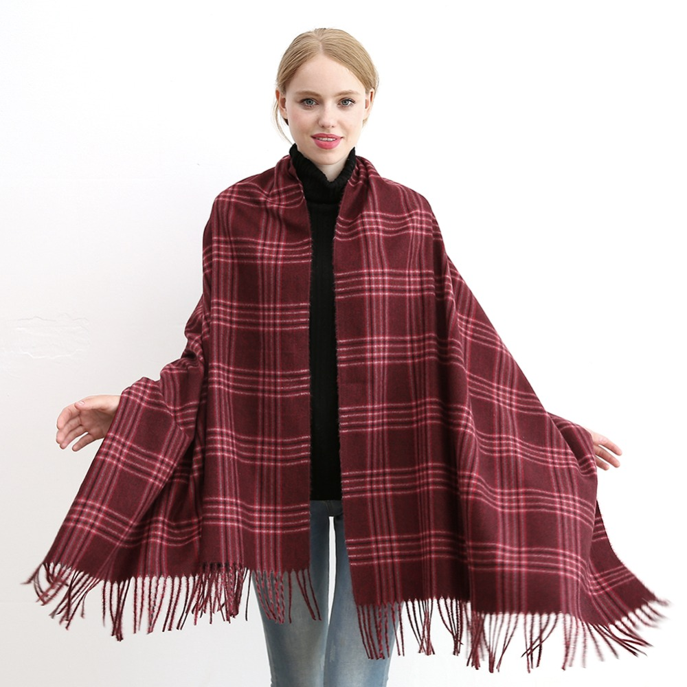 Winter Women Men Scarf Plaid Lattices Pashmina Scarves Shawl Wrap Luxury Fashion Warm Scarf Female Male