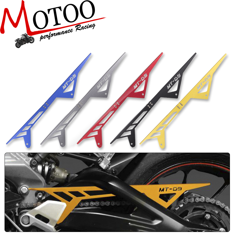 Motoo - Motorcycle MT09 FZ09 CNC Aluminum Chain Guards Cover Protector For Yamaha MT-09 FZ-09 2013 2014 2015 2016 gt motor motorcycle mt09 fz09 cnc aluminum chain guards cover protector for yamaha mt 09 fz 09 2013 2014 2015 2016