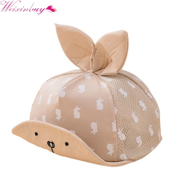 984b1958a45 Baby Sun Hat Snapback Baseball Cap Kids Newborn Toddler Baby Girl Boy Hat  Dots Little Ear Cap For 4M-1T
