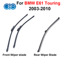 Silicone Rubber Front And Rear Windshield Windscreen Wiper Blade For BMW E61 Touring 2002 2010 Window