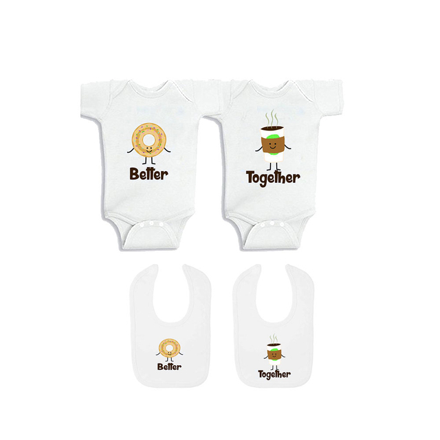 Better Together Twin Clothes for Twin Unisex Boys Girls Twin Bodysuits for Bebe  Newborn to 12 Months Twin Baby Shower Gifts