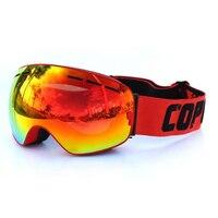 Copozz Skiing Snowboard Goggles Double Lens UV Anti Fog Ski Goggles Red Red