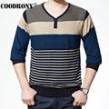 Button V-Neck Pullover Men Casual Striped Pull Homme Knitted Cashmere Wool Sweater Men Plus Size S XXXXL Factory Wholesale 66167