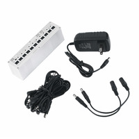 TSAI Practical 10 Isolated Output DC 9V 12V 18V Guitar Pedal Effect Power Supply Adapter Aluminum Alloy Guitar Accessories