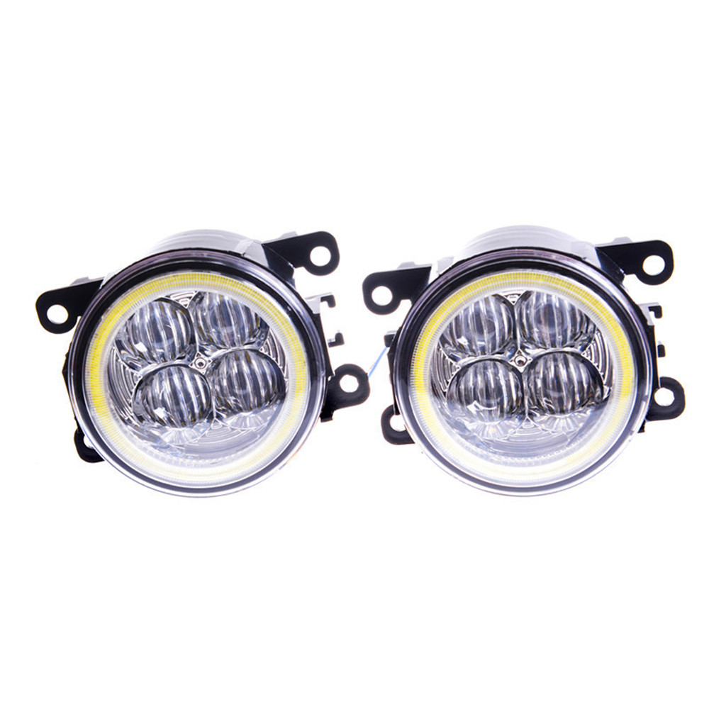 Fog Lamp Assembly Angel Eyes Fog Light For Mitsubishi L200 Outlander Pajero Grandis Galant 2003-2015 Led Fog Lights 1set new 2018 fashion men dress shoes black leather pointed toe male business shoes lace up men falt office shoes yj b0035