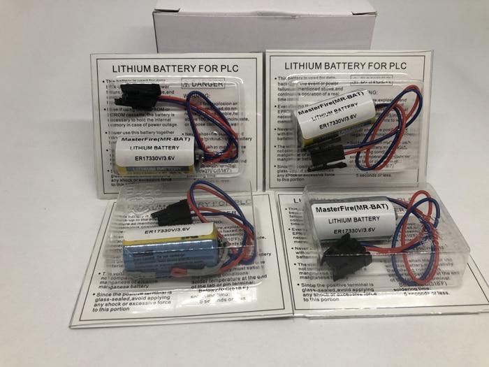 10pcs lot New Original MasterFire MR BAT ER17330V ER2 3A 17330 3 6V PLC Battery Batteries