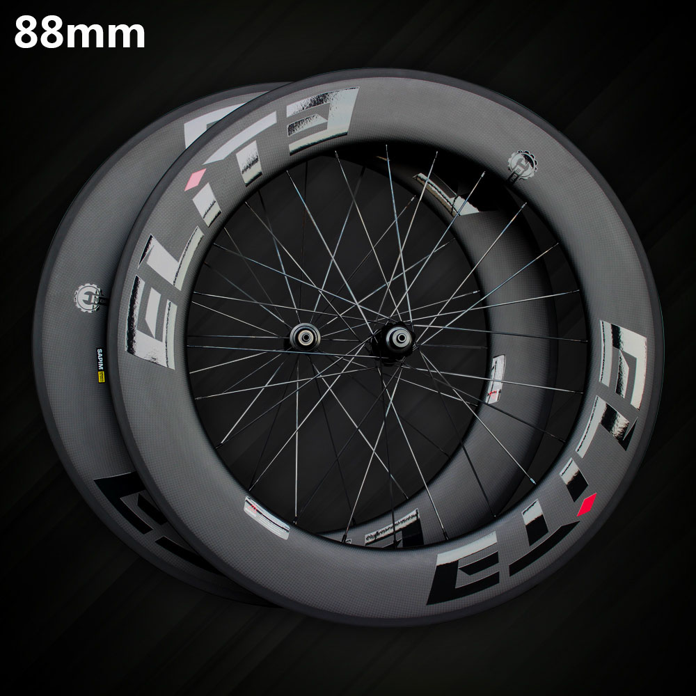Elite SLR Carbon Road Bike Wheel 700c Rim Tubular Clincher Tubeless With Taiwan Straight Pull Low