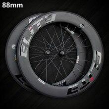 Elite SLR Carbon колесо для дорожного байка 700c обод трубчатый бескамерная клинчерная покрышка с Тайванем прямо тянуть низкое сопротивление керамическая втулка