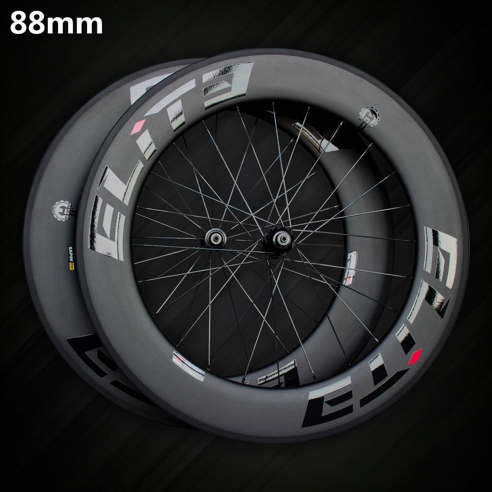 Elite SLR Carbon Road font b Bike b font Wheel 700c Rim Tubular Clincher Tubeless With
