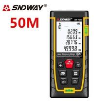 SNDWAY laser distance meter 50M range finder Laser rangefinder Tape Measure ruler Roulette Diastimeter trena Tool