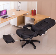 Computer chair home fashion leisure chair can lay the boss chair staff chair swivel chair leather art chair at the noon hour