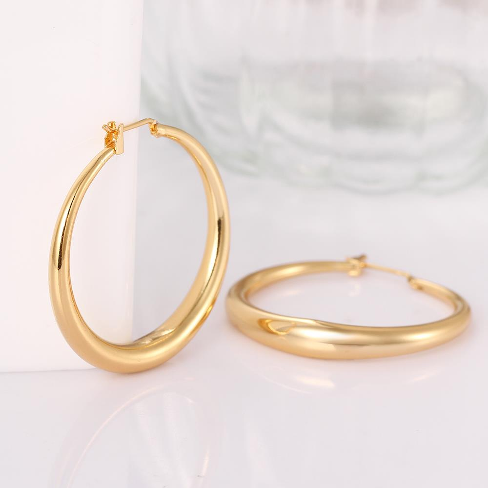 earring rose fashion euphorium golden new product earing ring round jewelry hoop earrings zircon casual gold color