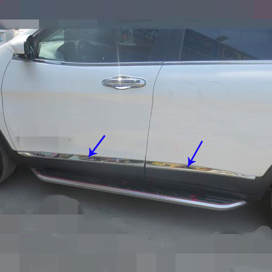 New 4pcs Chrome Side Door Body Scuff Molding Cover Trim Sill for Jeep Cherokee 2014 2015 2016